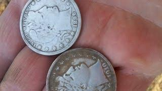 Dirt Fishin America Episode 1: Minelab CTX 3030 Finds BIG SILVER. Two Barber halves in one hole!