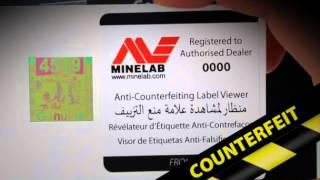 Genuine Minelab - Stop Counterfeits!