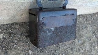 Awesome Bank Box Found Metal Detecting a Ghost Town Mining Camp. Part 1