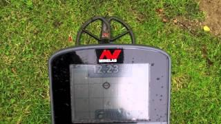 "Minelab CTX 3030 - 8"" Deep Coin - In Wall on Angle"