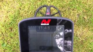 "Minelab CTX 3030 on an 8"" Coin - 50 Conductive & Combine - Cross checked settings"