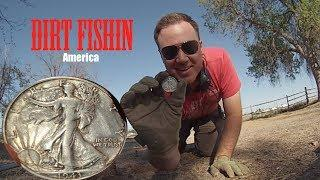 Metal Detecting a Big Silver Walking Liberty Coin.